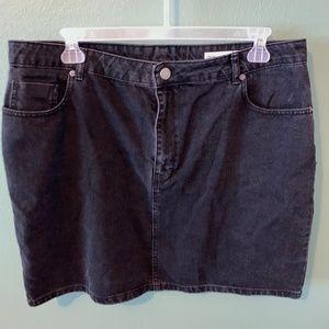 ASOS black denim skirt